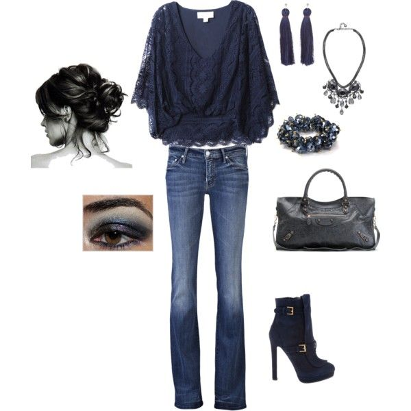 .: Shoes, Date Night, Lace Tops, Style, Blue, Shirts, Casual Outfits, The Navy, Boots