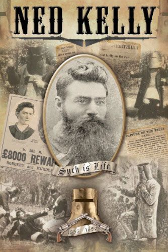 Ned Kelly is thought of as either a villain or a hero, depending from what position you are coming. I admire his courage to stand up for what he believed in and to fight oppression and corrupt authority. Such is Life!