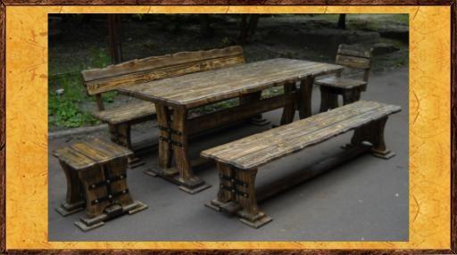 стол под старину рустик из дерева мебель из бревна