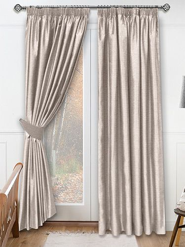 Dupioni Faux Silk Mink Curtains from Curtains 2go
