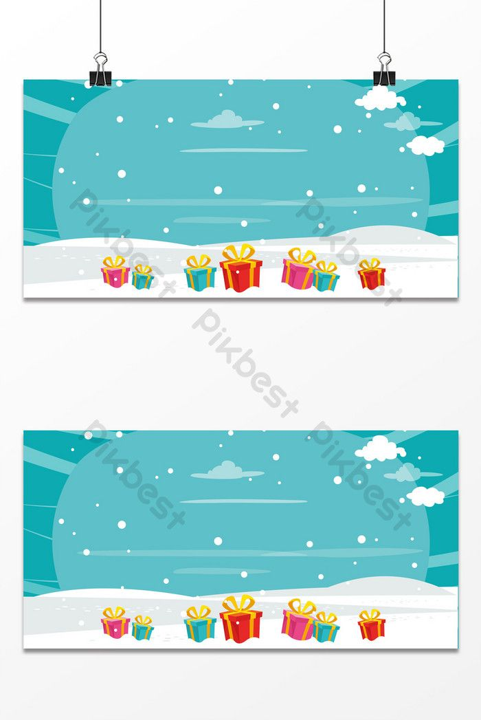Cartoon Simple Fresh Cloud Winter Snow Gift Box Christmas Eve Background Backgrounds Psd Free Download Pikbest Christmas Box Snow Gifts Christmas Settings