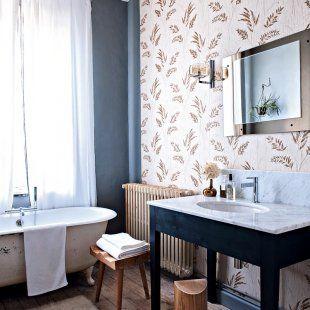 salle de bains rétro