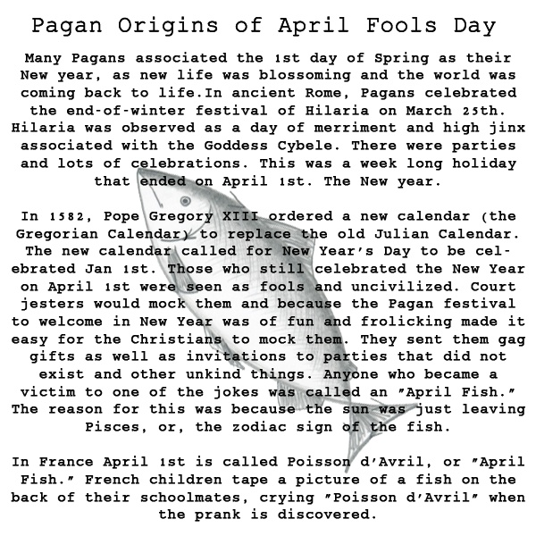 The origins of April Fools Day.