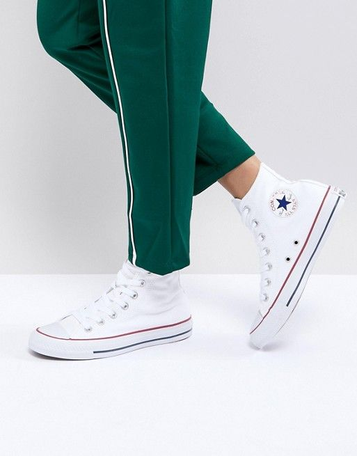 3a3fed4cef0e Converse All Star High Top White Sneakers  55.00