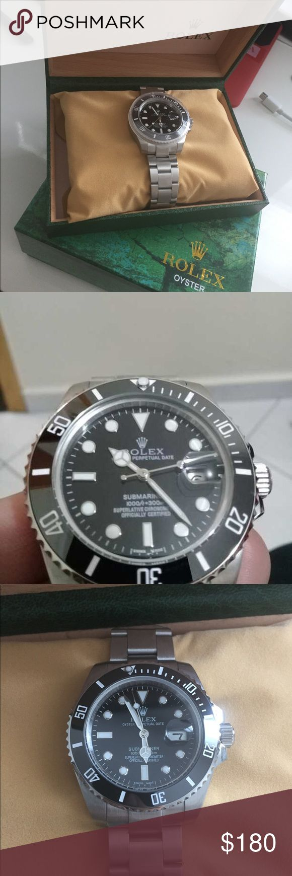 Rolex submariner - ceramic Automatic movement, hack mechanism, 2.5X mag, box included, message 9548649790 for pricing Rolex Accessories Watches