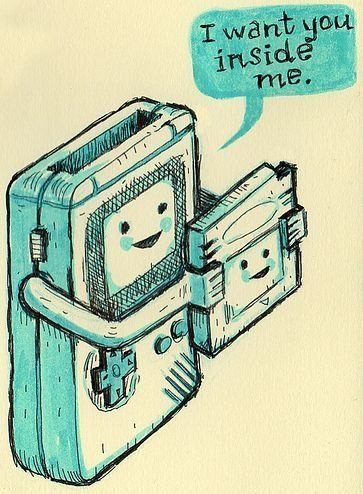 Haha dirty little game boy!