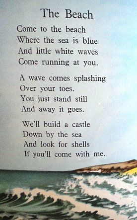 A lovely beach poem ~
