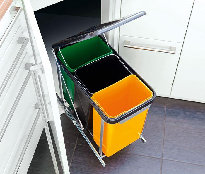 Cubo de reciclaje interior