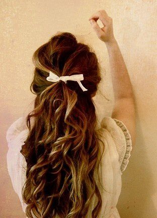 Cute bow, beautiful hair. Visit Walgreens.com for great hair products and accessories.