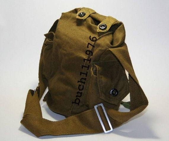 Soviet Russian Gp-5 Gas Mask Canvas Bag Military Army Indiana Jones with tapes 2pcs  for GP-4/ GP-5/ GP-7/ PMK/PMG 2 pcs in original, it is storage a many years in military warehouse.     But it's never used.    Russian  Bag  GP-5 has 2 pockets with the buttons, managed strap.    Russian  Bag  GP-5 can rush about on a shoulder, on a belt.    Russian  small Bag GP-5 see 3  foto.        Russian  Bag  GP-7 biger than bag GP-5, has 1 pocket with the button, managed strap.    Russian  Bag  GP-7…