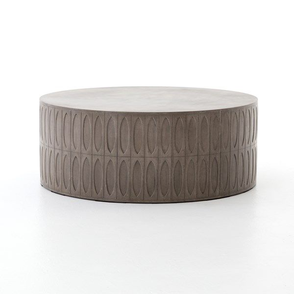 370 best table images on pinterest occasional tables for Concrete drum coffee table