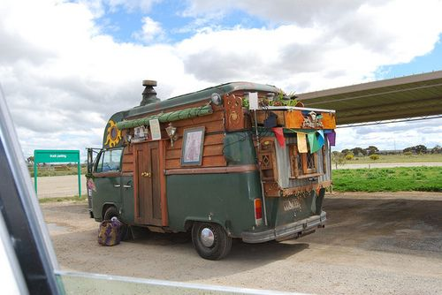 Volkwagon van turned into Gypsy Wagon