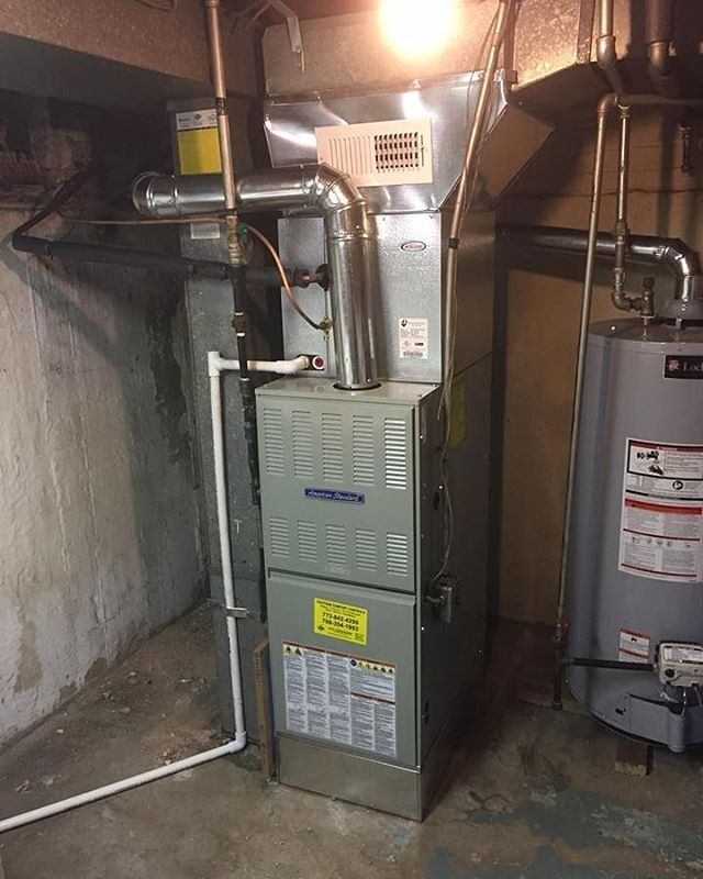 Another Awesome American Standard Furnace Install In Riverdale