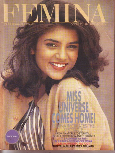 Femina 23 Oct 1994 Mag Miss Universe Comes Home Sushmita Sen