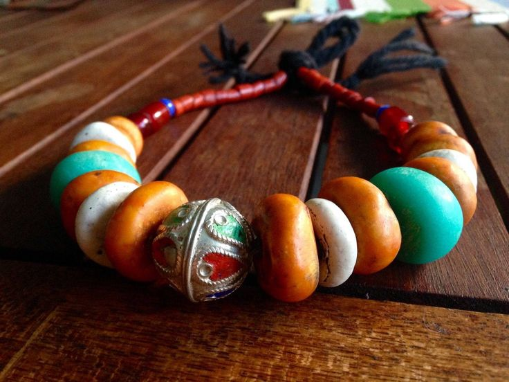 African Moroccan Trade Bead Antique Necklace by Avoka on Etsy