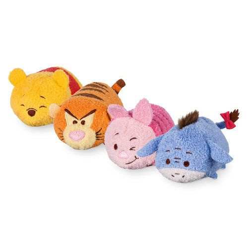Your hundred acre friends come together on this collection of soft, stackable ''Tsum Tsum'' buddies that'll have any Disney fan yelling ''Oh Brother!'' Grab your Pooh, Tigger, Piglet and Eeyore and cuddle up for a cozy snuggle sesh.