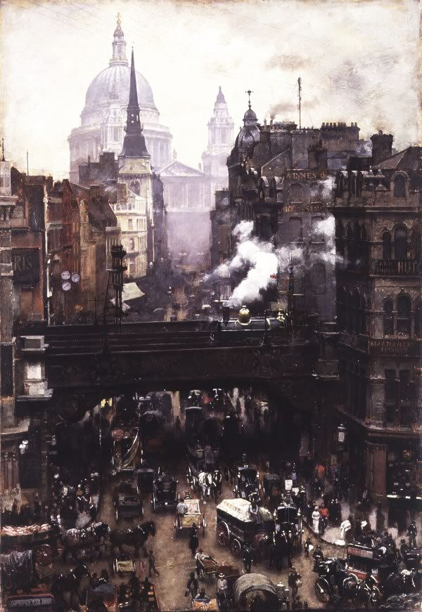 speciesbarocus:  William Logsdail - St. Paul's and Ludgate Hill (c. 1884).