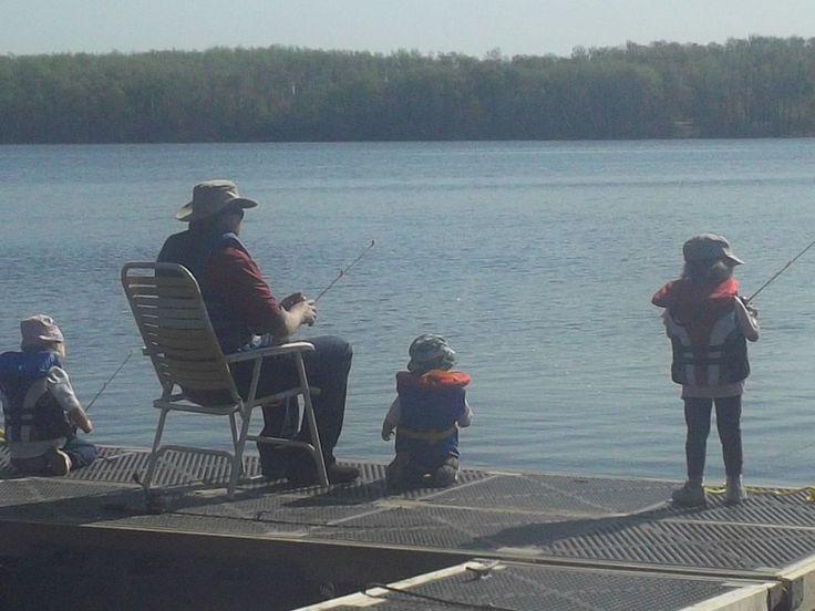 Fishing off the dock at Lucien Lake #lucienlake #sittinonthedock #gonefishing #sasklakefront #lakefrontproperty #lakesideproperty  #familyfun