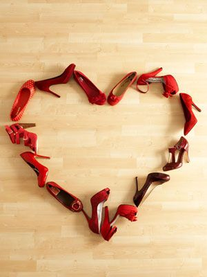 Two of my favorite things. Red shoes and a heart: Fashion, Style, Valentines, Red Shoes, Shoe Heart, High Heels, Valentine S