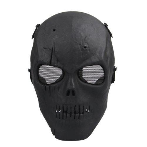 Airsoft Mask Skull Full Protective Mask Military - Black