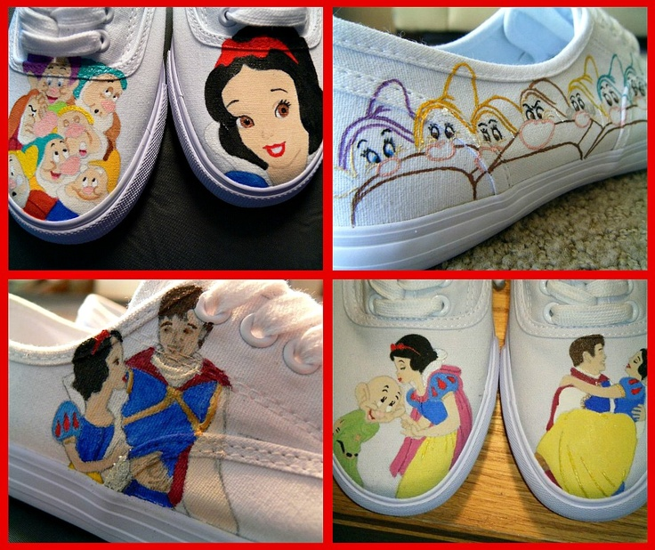 Disney's Snow White and The Seven Dwarfs themed shoes