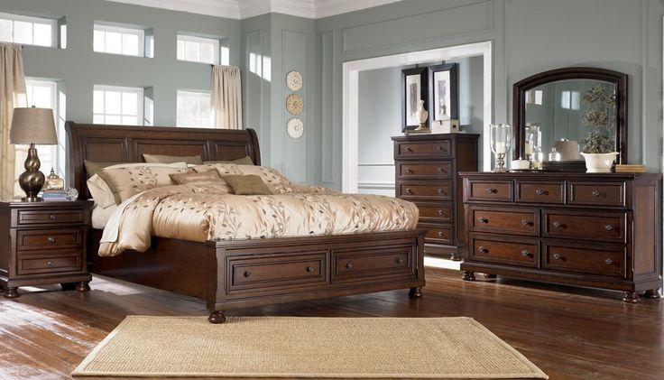 Ashley Porter Collection Bedroom Suite - Master Bedroom (minus tall chest + addtl nightstand)