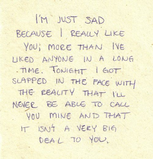 Sad Quotes About Crushes: Best 25+ Liking Someone Quotes Ideas On Pinterest
