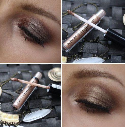 Перламутровые тени для век NYX Lid Lingerie Eye Tint - Nude to me, Bronze Mirage