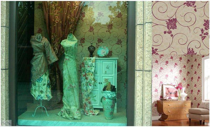 Tapet Viviana, linii curbe, zvelte si gratioase, se transforma in buchete florale, creand o eleganta uimitoare.  Culorile pot fi subtile, de la ivoire perlat, pana la nuante de platina si accente puternice de roz-zmeura. wallpaper pink