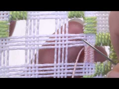 Embroidery Hardanger .Learn How To Make Woven Bars Pearl 8 - YouTube