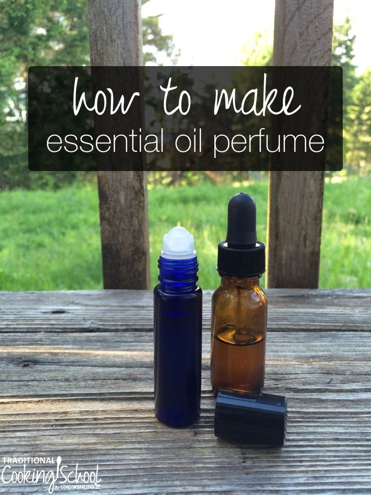 How to Make Essential Oil Perfume   I've wanted to wear perfume all my life, but couldn't because I got headaches every time I put it on. Recently, I started making my own perfume using essential oils... and I couldn't be more thrilled. Now I can wear perfume without getting headaches. And in fact, my perfumes improve how I feel! Here's how to make your own essential oil perfume (video and print).   TraditionalCookingSchool.com