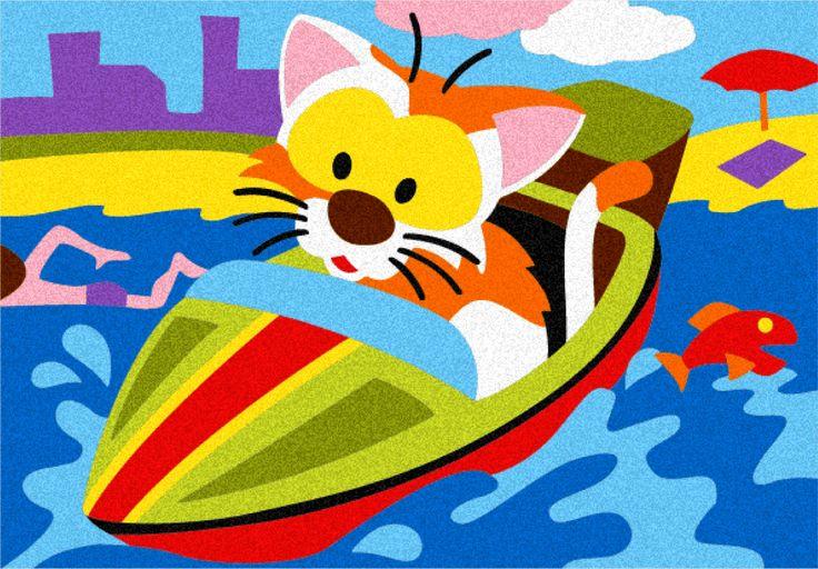 Album: Gli animali al volante - Disegno: Il gatto