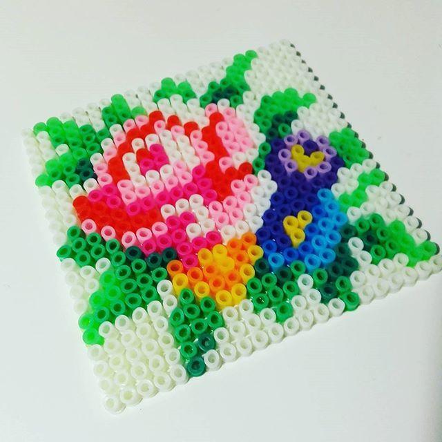 Flower coaster hama beads by maschahaakt