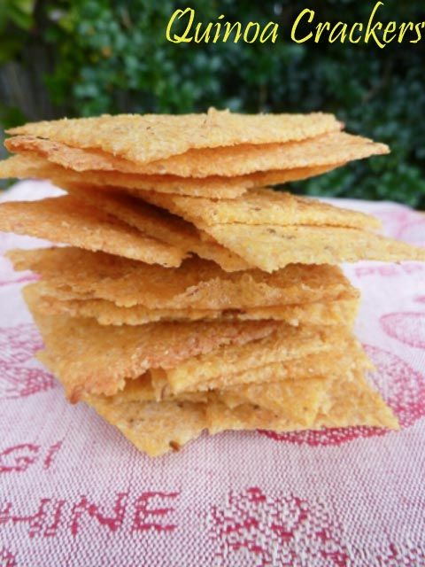 Make it for Christmas: Quinoa Crackers * Get the recipe at TIFFIN - bite sized food adventures -