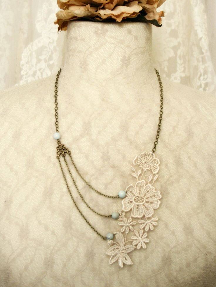 71 best jewellery from lace images on Pinterest Lace jewelry Diy