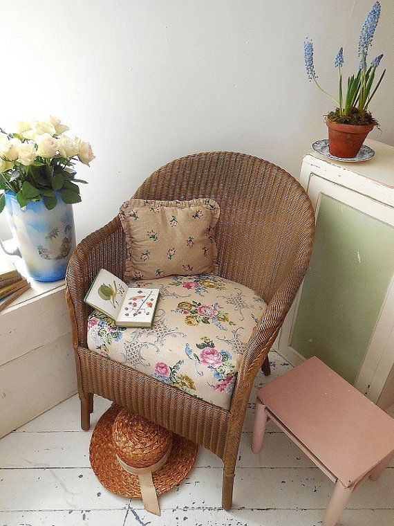 Vintage Lloyd Loom chair original paintwork & label. by EmmaAtLHV