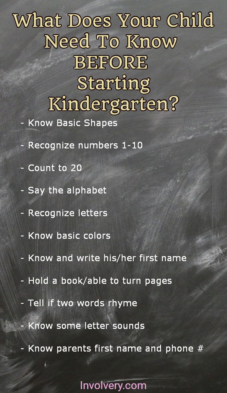 Ready for Kindergarten?  What your child needs to know BEFORE starting kindergarten this year.