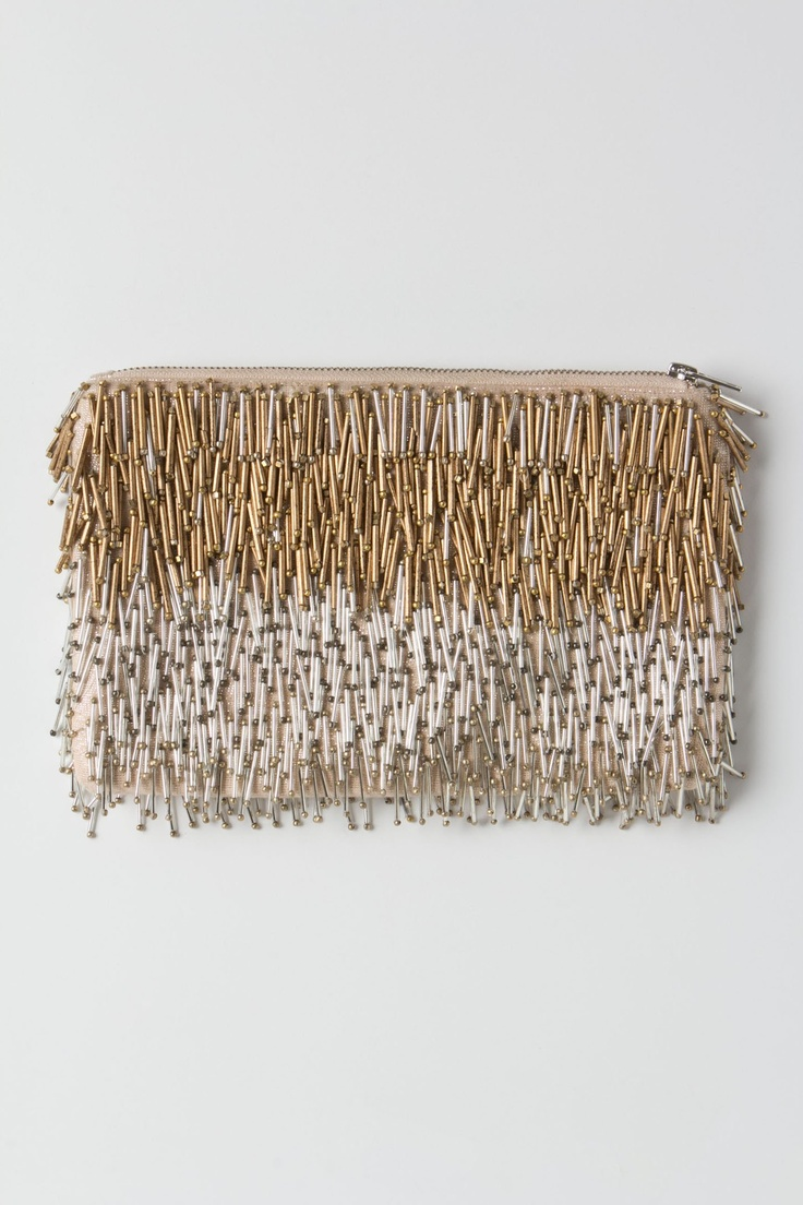Giltwork Pin-Fringe Clutch - Anthropologie.com
