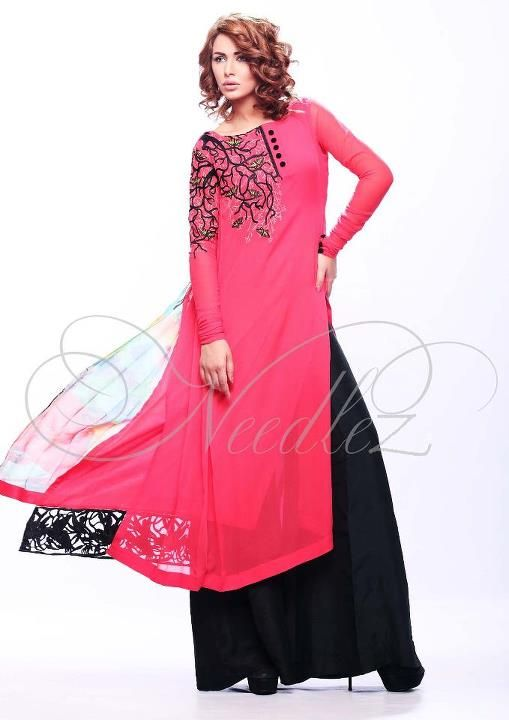 Latest Fashion Pakistani Dresses 2012 by Needlez by Shalimar c