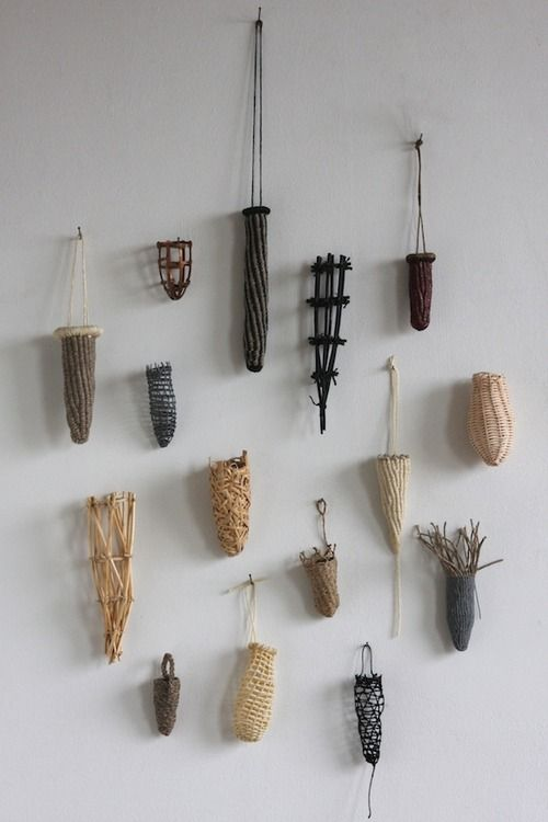 Fingerprints, Construction: mixed media fiber processes including: twining, netting, knitting, random weaving utilizing linen, cotton, caning, reed, copper and paper. - See more at: http://nationalbasketry.org