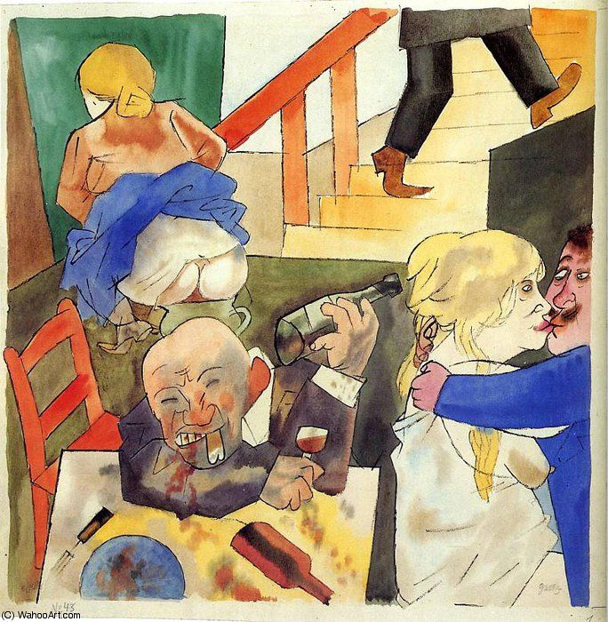 sans titre (3707) de George Grosz (1893-1959, Germany)