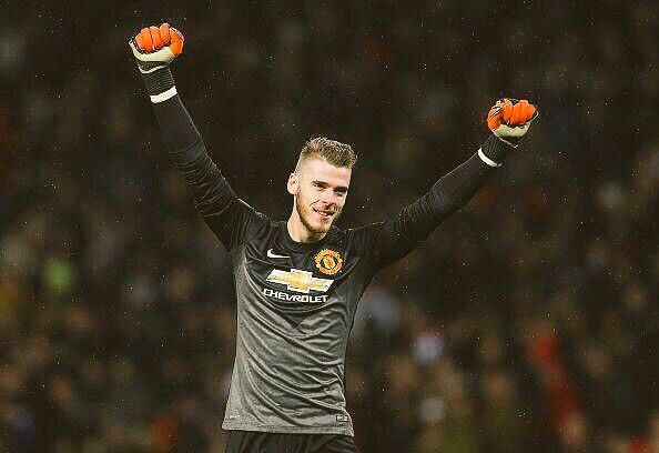 De Gea after make cleensheet.