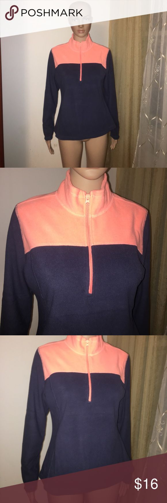 Old navy y fleece zip up medium orange women's Gently used. O no stains or holes super cute on Old Navy Tops Sweatshirts & Hoodies