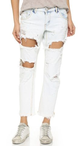 Shop THE cutest jeans on Keep! These white boyfriend jeans from Shopbop are so in right now.