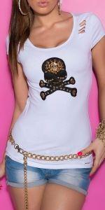 t-shirt z czaszką i siateczkowymi plecami