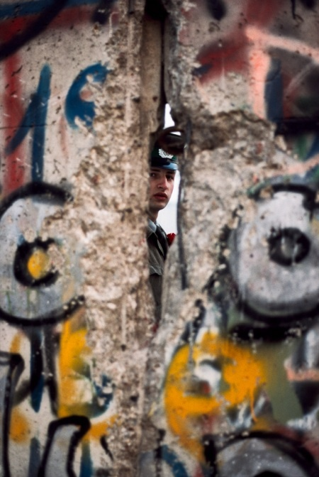 The Fall of the Berlin Wall - November 1989.  Steve McCurry photography