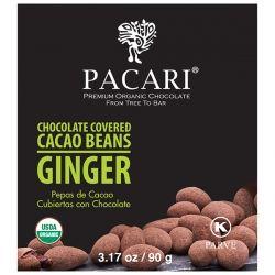 Какао бобы в органическом шоколаде с имбирем Pacari, 90 гр, купить