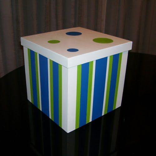 Decoración para bebés: Caja de madera pintadas a mano