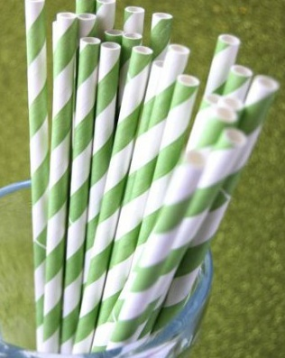 Green and Blue Striped Straws - I want these at the bar at my wedding :)