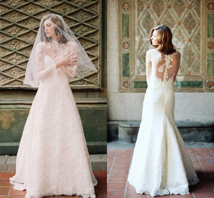 2015 новое поступление кружева длинные рукава невесты зимой свадебные платья на заказ длиной до пола дешевые свадебные платья сделано в китае 2015